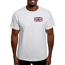 """British Flag"" Ash Grey T-Shirt"
