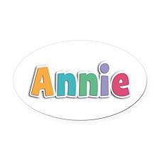 Annie Spring11 Oval Car Magnet