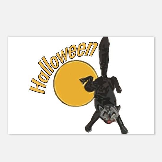 halloweencat3 Postcards (Package of 8)
