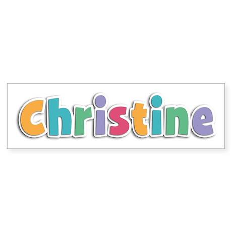 Christine Spring11 Bumper Sticker