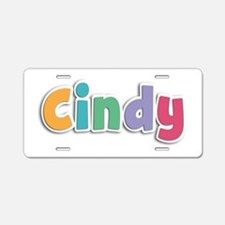 Cindy Spring11 Aluminum License Plate