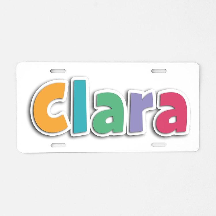 Clara Spring11 Aluminum License Plate