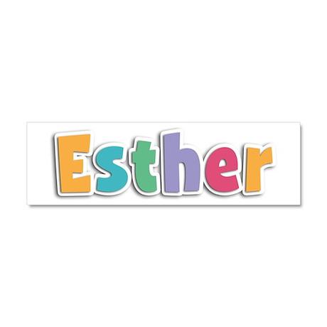 Esther Spring11 10x3 Car Magnet