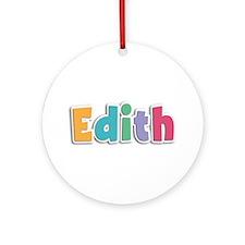 Edith Spring11 Round Ornament