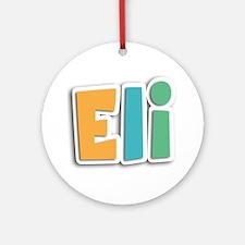 Eli Spring11 Round Ornament