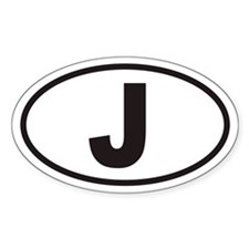 J Euro Oval Decal