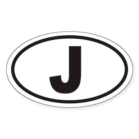 J Euro Oval Sticker