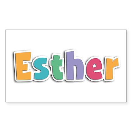 Esther Spring11 Rectangle Sticker