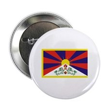 "Tibet Flag 2.25"" Button"