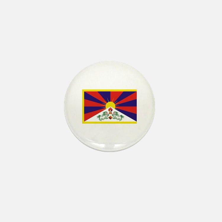 Tibet Flag Mini Button