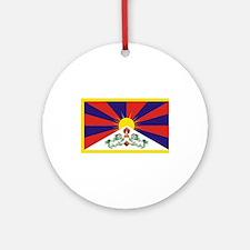 Tibet Flag Ornament (Round)