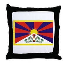 Tibet Flag Throw Pillow