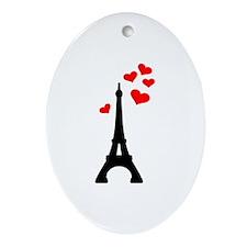 Eiffel Tower Paris Ornament (Oval)