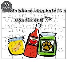 Dog Hair Condiment Puzzle