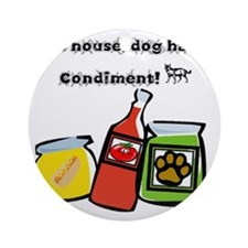 Dog Hair Condiment Ornament (Round)