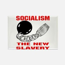 Socialism The New Slavery Rectangle Magnet