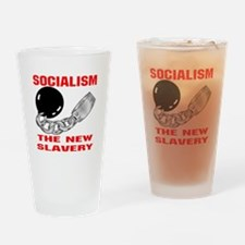 Socialism The New Slavery Drinking Glass