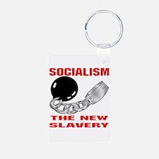 Socialism The New Slavery Aluminum Photo Keychain