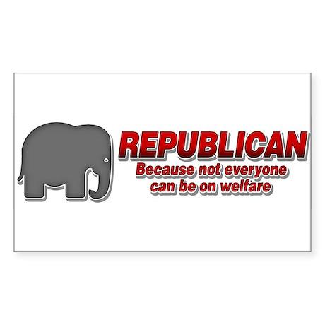 REPUBLICAN quote Sticker (Rectangle)