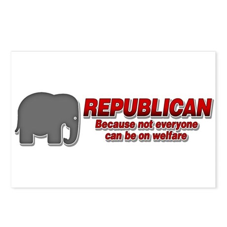 REPUBLICAN quote Postcards (Package of 8)