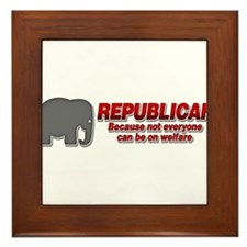 REPUBLICAN quote Framed Tile