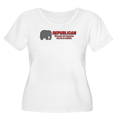 REPUBLICAN quote Women's Plus Size Scoop Neck T-Sh
