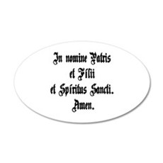Sign of the Cross 20x12 Oval Wall Decal