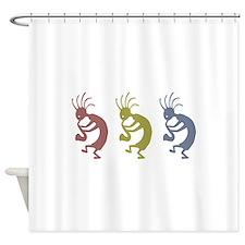 kokopelliVID.png Shower Curtain
