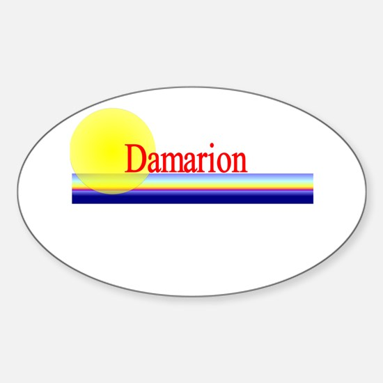 Damarion Oval Decal