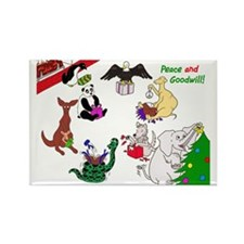 Christmas Card For The World Rectangle Magnet
