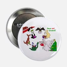 "Christmas Card For The World 2.25"" Button"