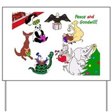 Christmas Card For The World Yard Sign