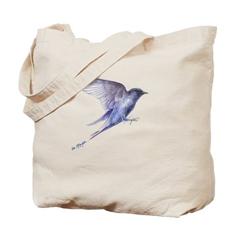 Purple Martin in flight lite T Tote Bag