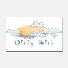 DirtyGirl.png Car Magnet 20 x 12
