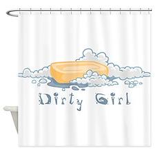 DirtyGirl.png Shower Curtain