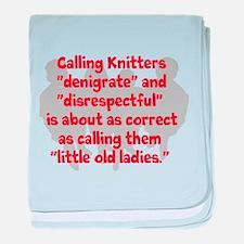 denigrate knitters baby blanket