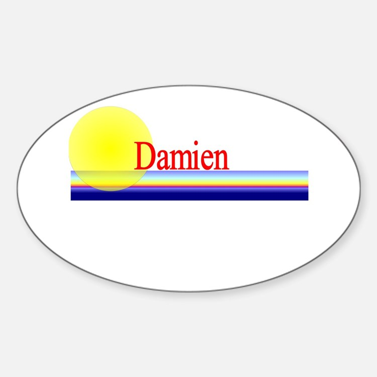 Damien Oval Decal