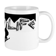 Snow life White mountain Boarder Mug