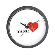 I love Yang Wall Clock