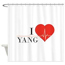 I love Yang Shower Curtain