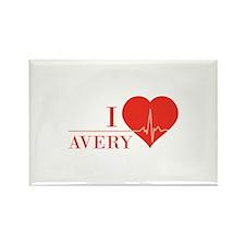 I love Avery Rectangle Magnet