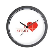I love Avery Wall Clock