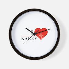 I love Karev Wall Clock