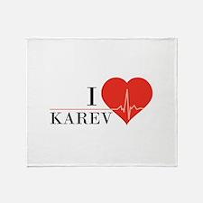 I love Karev Throw Blanket
