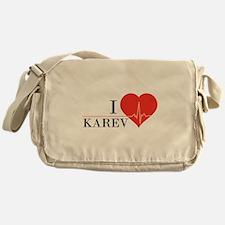 I love Karev Messenger Bag