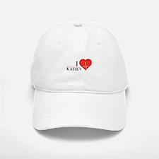 I love Karev Baseball Baseball Cap