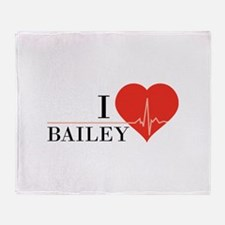 I love Bailey Throw Blanket