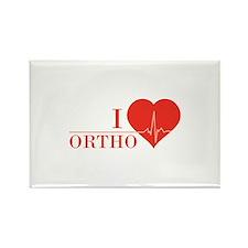 I love Ortho Rectangle Magnet