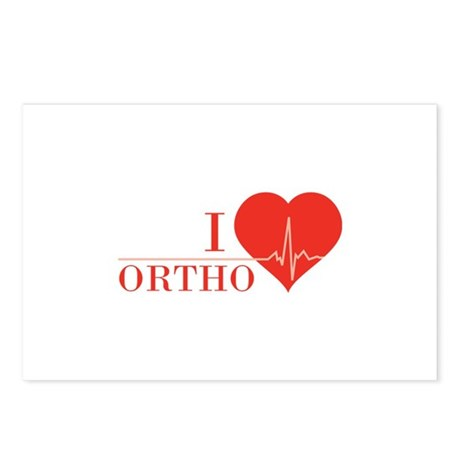 I love Ortho Postcards (Package of 8)