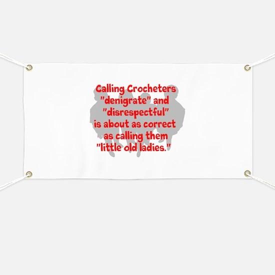 denigrate crocheters Banner
